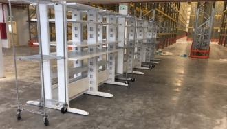 20 עמדות מכונה לבנות ומטרו עבור אלפא קוסמטיקה בכרמיאל