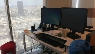 עמדות לעבודה בעמידה Workfit-T משרדי AVG