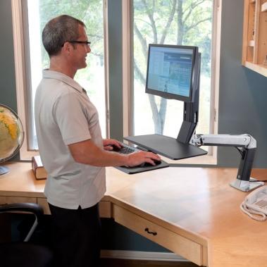 מעמד שולחני למסך ומקלדת Workfit-A