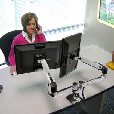 זרוע LX Side By Side לשני מסכי מחשב