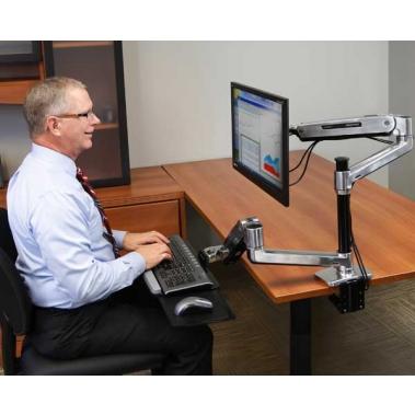 זרוע למסך ומקלדת Workfit LX sit-stand