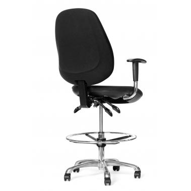 כסא יעיל נוע ארגונומי אנטי סטטי - ריפוד שחור, בוכנה נמוכה