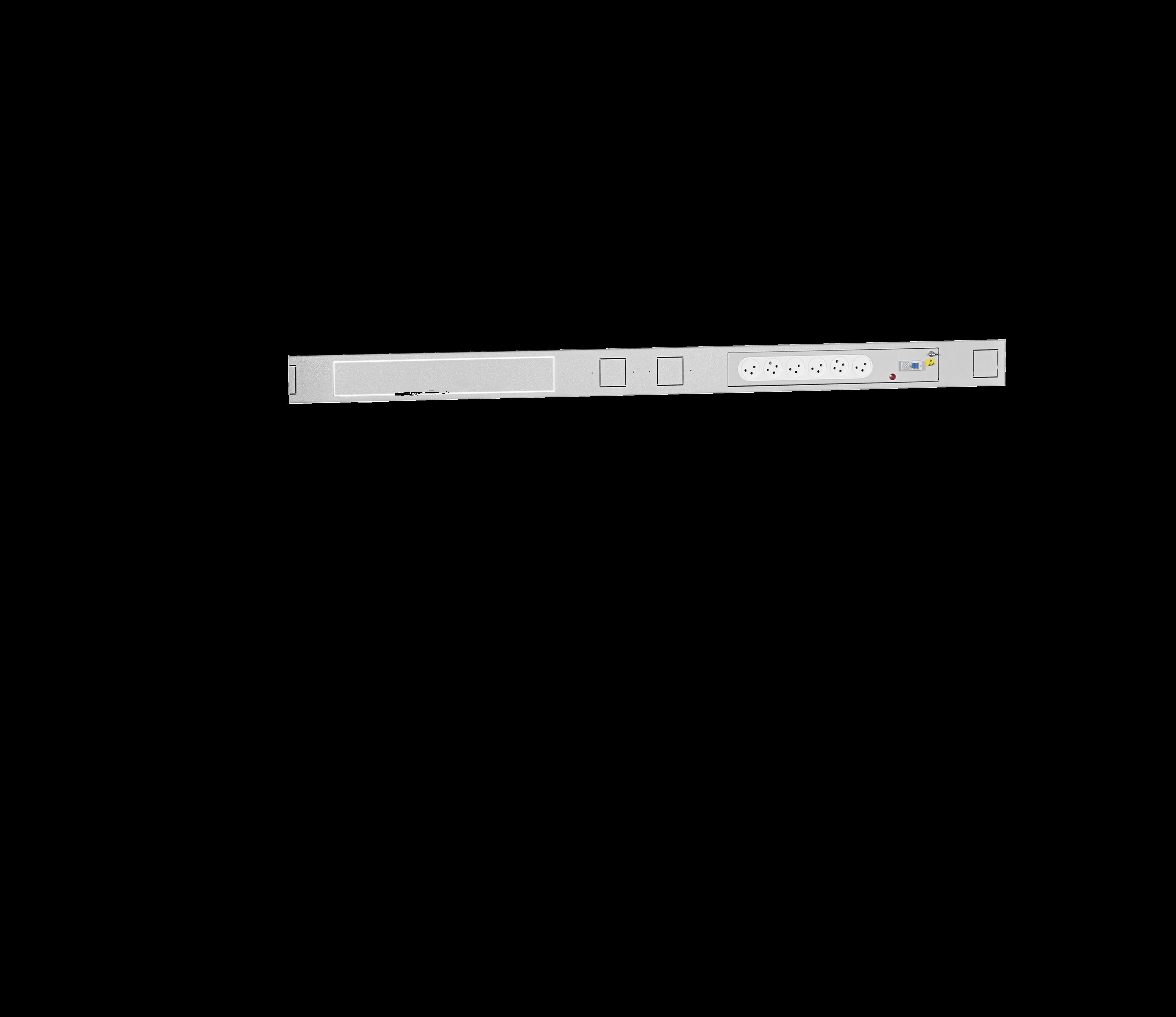 תושבת שקעים + 6 שקעי חשמל מצד ימין